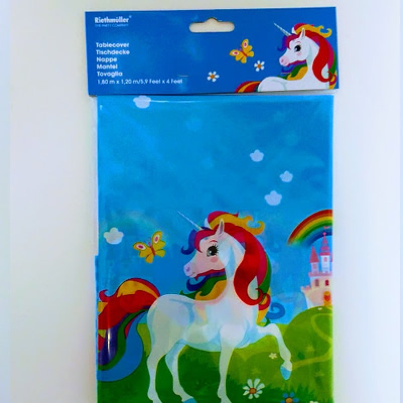 Mantel 137x259 cm.unicornio plst.