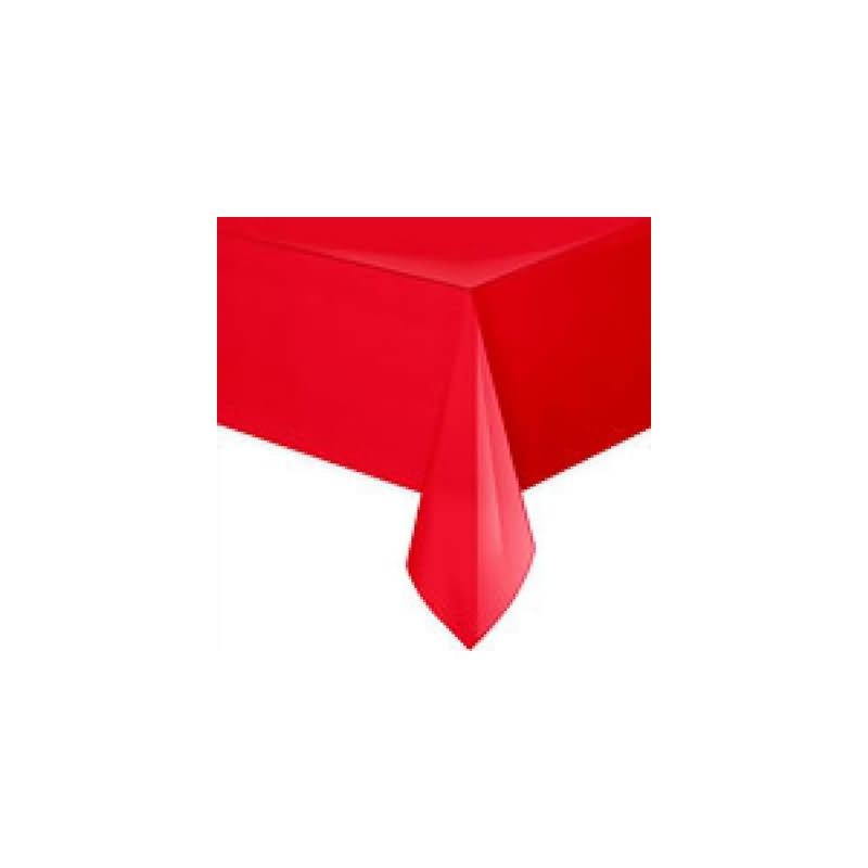 Mantel 135x270 cm.rojo plstico