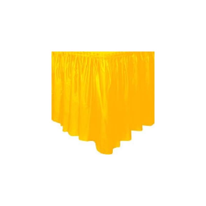 Fald¢n mesa amarillo plstico
