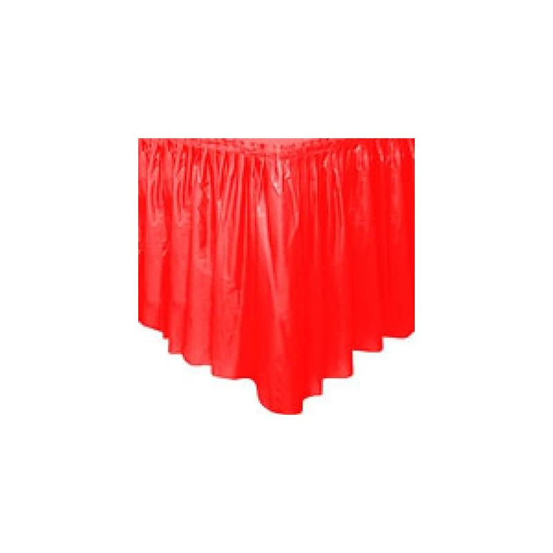 Fald¢n mesa rojo plstico