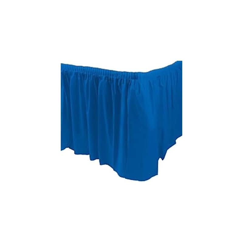 Faldón mesa azul marino plástico