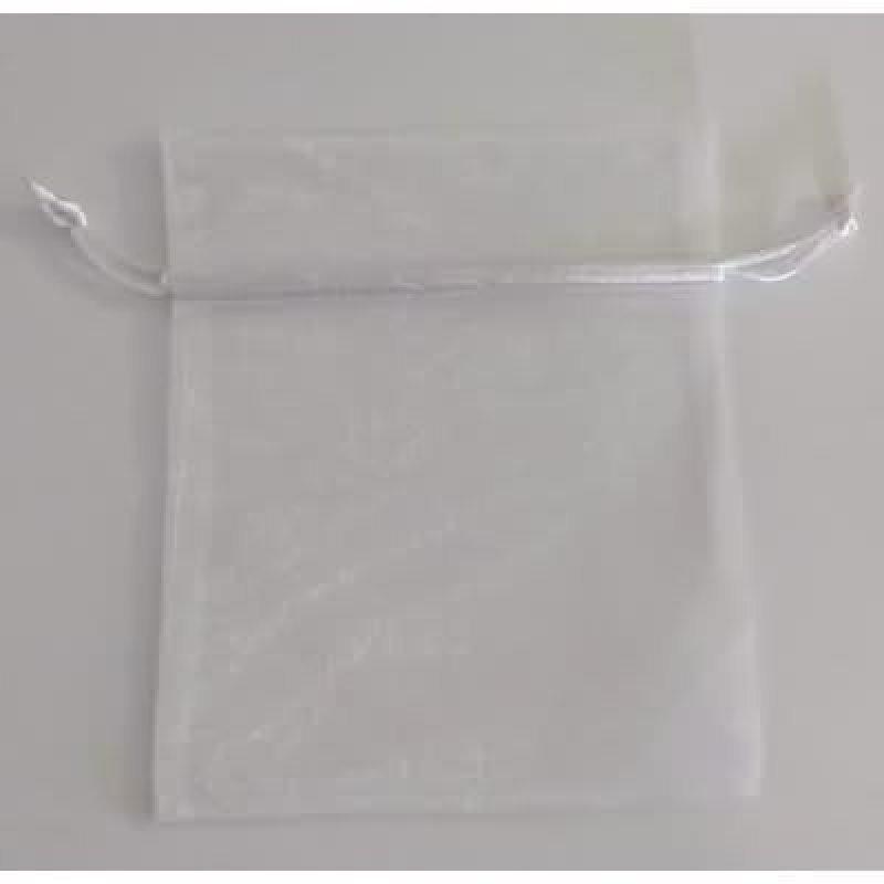 Bolsa tela blanco 6.5x27 cm.50 unid.