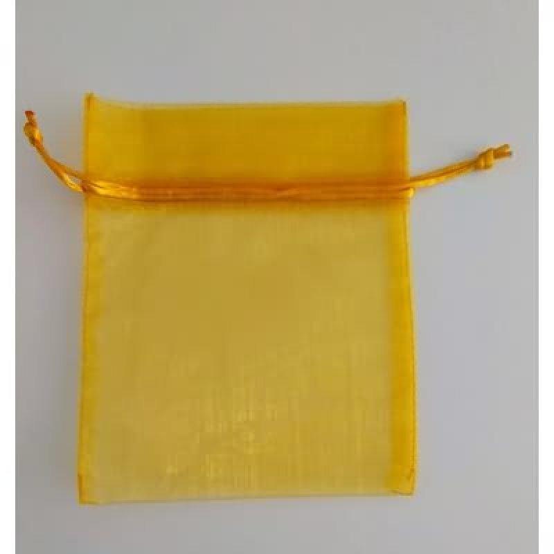 Bolsa tela amarillo 13x16 cm.50 unid.