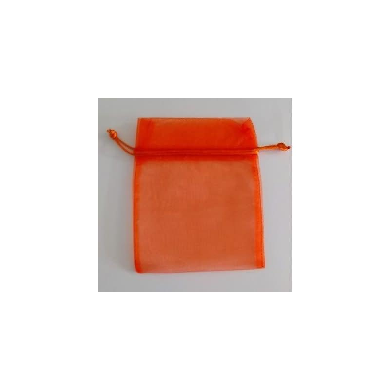 Bolsa tela naranja 13x16 cm.50 unid.