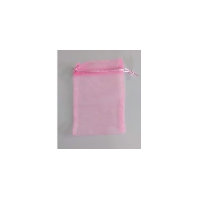 Bolsa tela rosa 13x16 cm.50 unid.