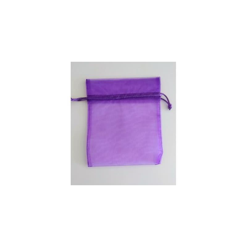 Bolsa tela violeta 13x16 cm.50 unid.