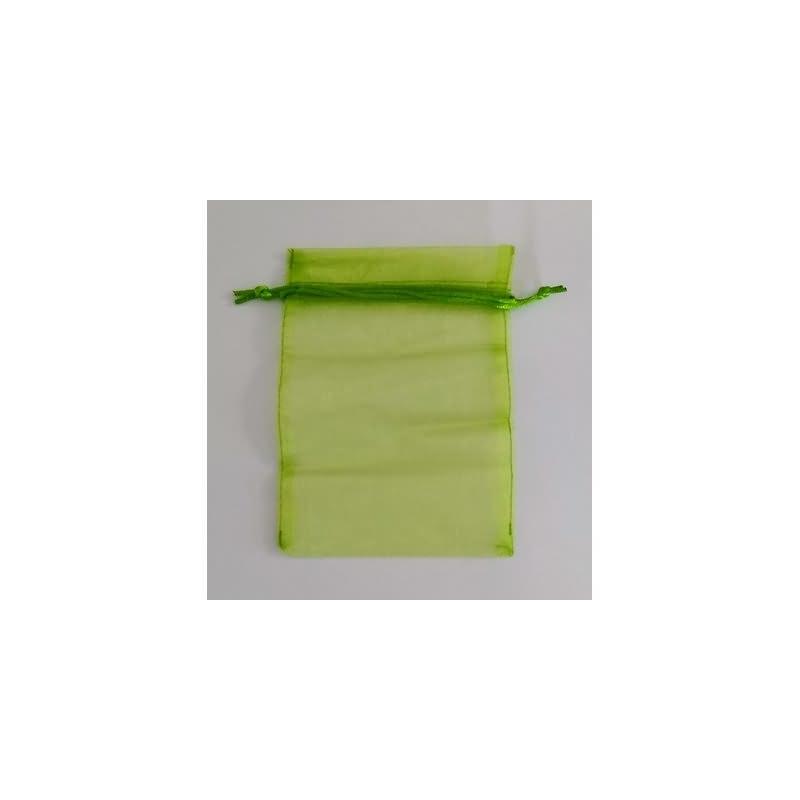 Bolsa tela verde m.13x16 cm.50 unid.