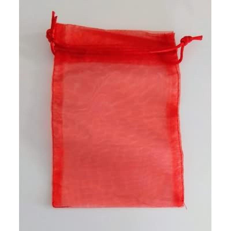 Bolsa tela rojo 15x35 cm.25 unid.