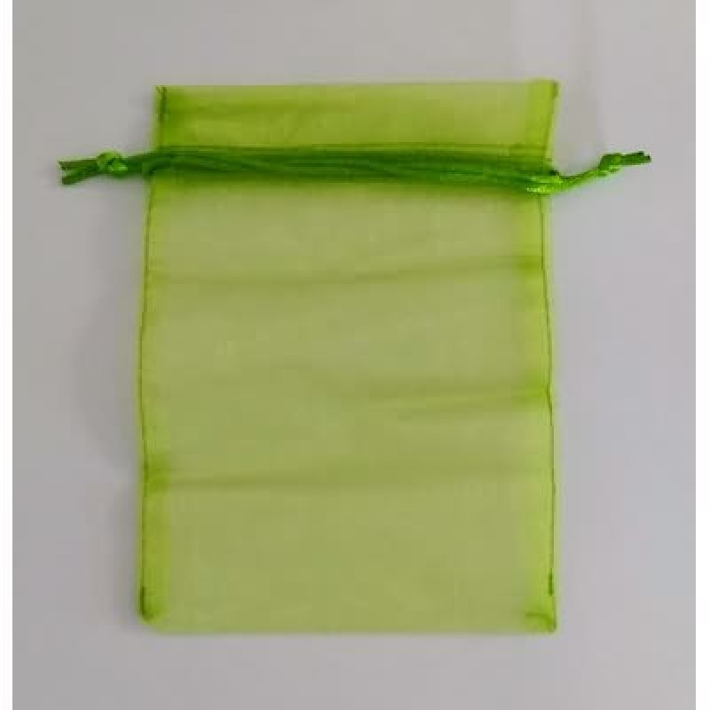 Bolsa tela verde m.15x35 cm.25 unid.