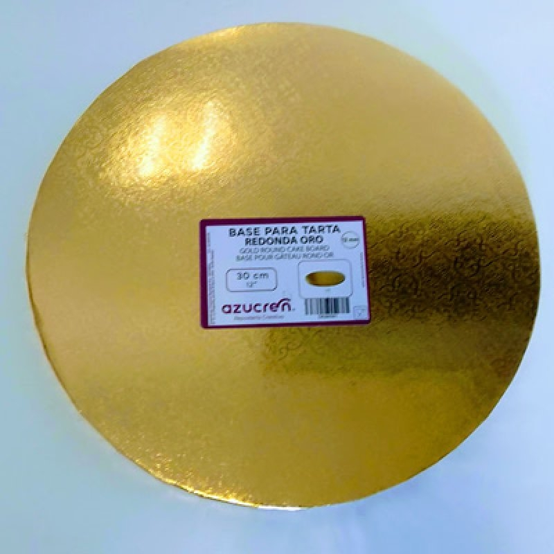 Base tarta 30 cm.oro 10 mm.