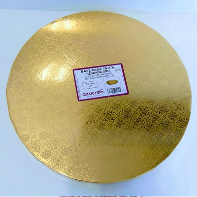 Base tarta 35 cm.oro 10 mm.