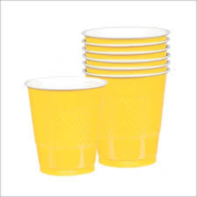 Vaso 354 ml.amarillo 10 unid.