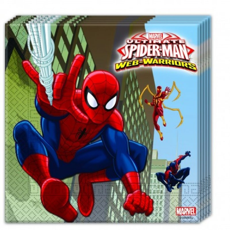 Serv.33x33 Spiderman 20 unid.
