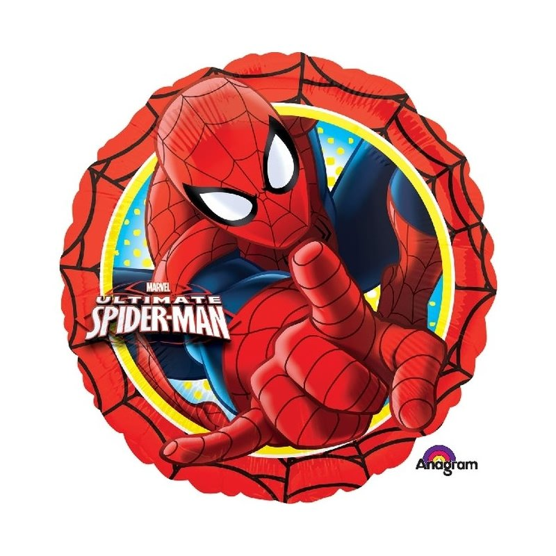 Globo foil metalizado de Spiderman UltimateMedida aproximada 45 cm