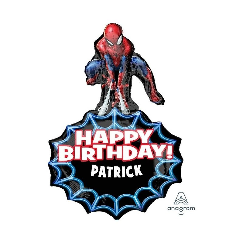 Globo foil Spiderman personalizable