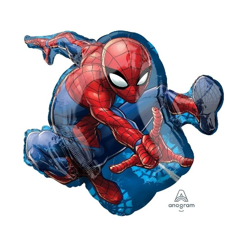 Globo foil Superforma metalizado de SpidermanMedidas aproximadas 43 cm x 73cm